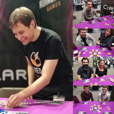 Collage of photos from Tabletop Gaming Live 2019
