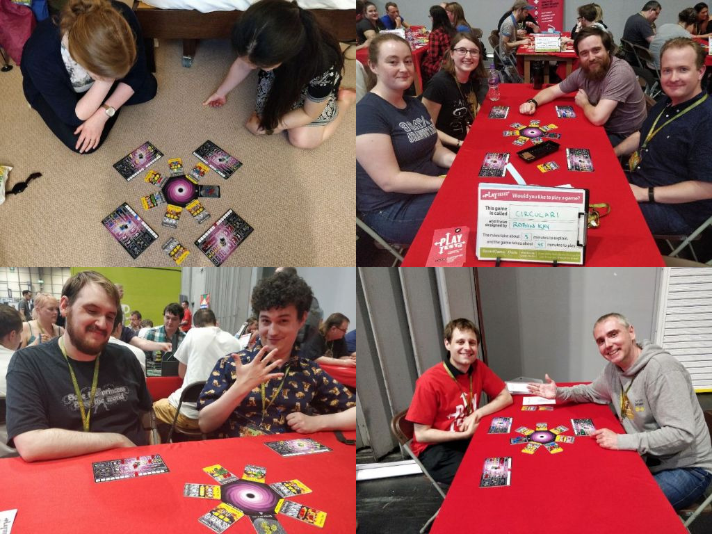 Four games of Circulari played at the UK Games Expo 2019